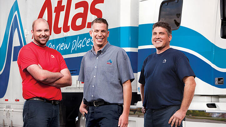 A-1 Professional Movers in front of Atlas Truck