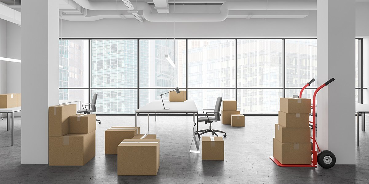 Corporate Environment with Moving Boxes