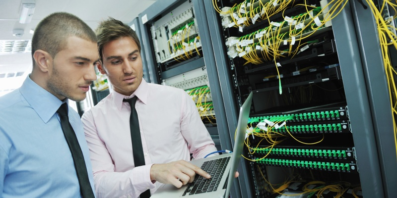 IT Specialist in server room